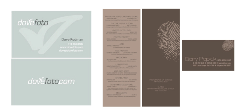 Business Cards, Actor Showcase Flyer