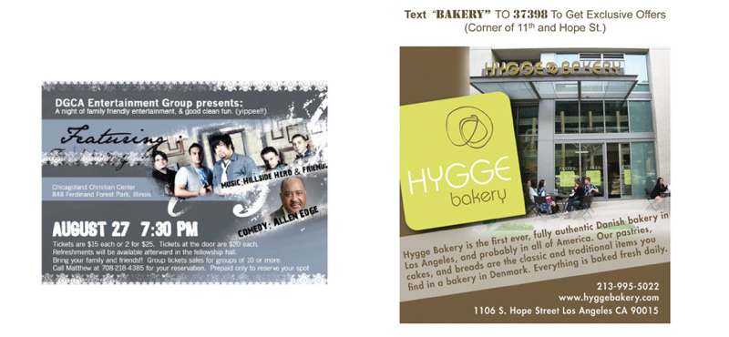 Postcards, Print Advertisement
