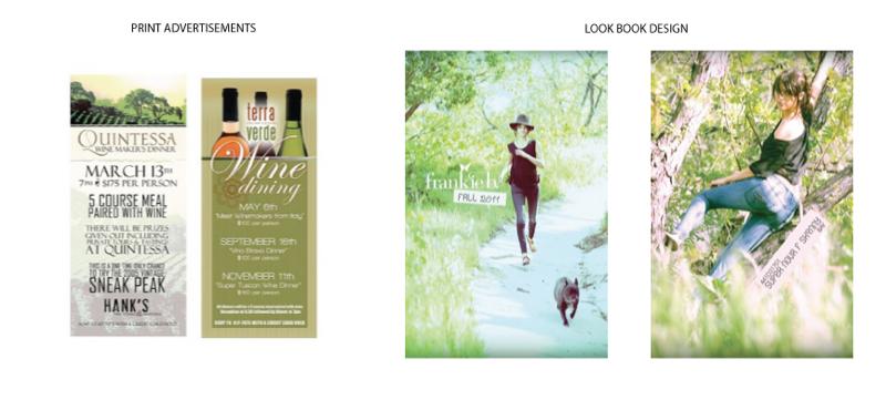 Buck Slip Ads, Look Book Design